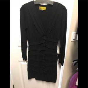 BOGO Nicole Miller V Neck Ruched Jersey Dress